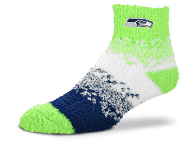 Seattle Seahawks For Bare Feet Marquee Sleep Soft Socks