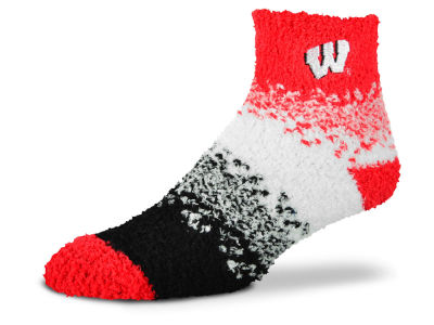Wisconsin Badgers For Bare Feet Marquee Sleep Soft Socks