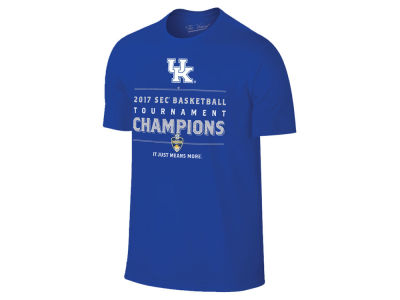 Kentucky Wildcats Retro Brand 2017 NCAA SEC Tourney Champ LR T-Shirt