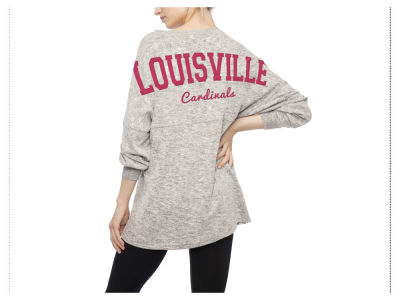 Louisville Cardinals NCAA Women's Cozy Fleece Varsity Sweeper T-shirt