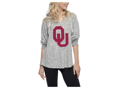 Oklahoma Sooners NCAA Women's Cozy Fleece V-Neck Hoodie