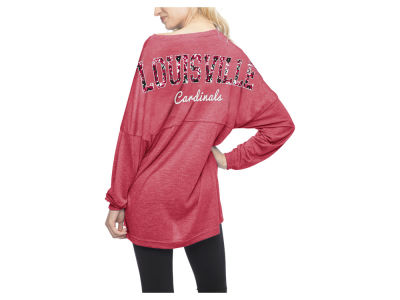 Louisville Cardinals NCAA Women's Varsity Jersey Sweeper T-shirt