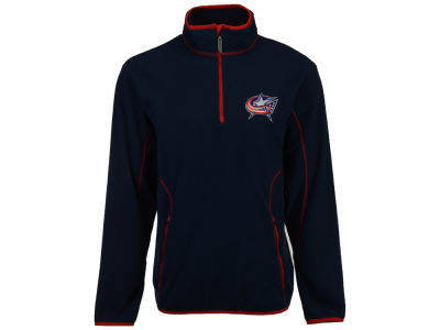 Columbus Blue Jackets Antigua NHL Ice Quarter Zip Pullover