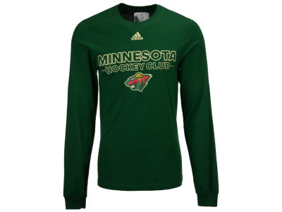 Minnesota Wild adidas NHL Men's Frontline Long Sleeve T-shirt