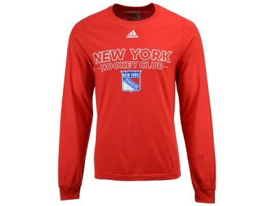 New York Rangers adidas NHL Men's Frontline Long Sleeve T-shirt