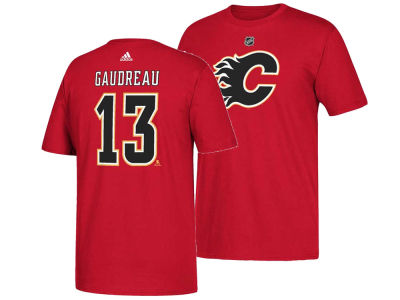Calgary Flames Johnny Gaudreau adidas NHL Men's Silver Player T-shirt