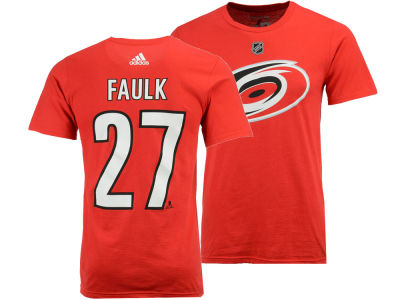 Carolina Hurricanes Justin Faulk adidas NHL Men's Silver Player T-shirt