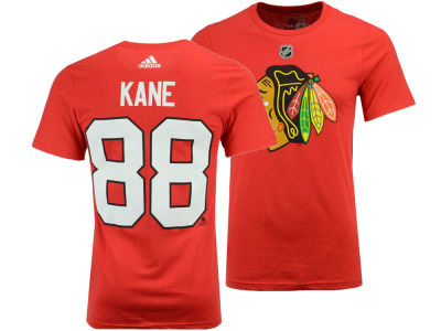 Chicago Blackhawks Patrick Kane adidas NHL Men's Silver Player T-shirt