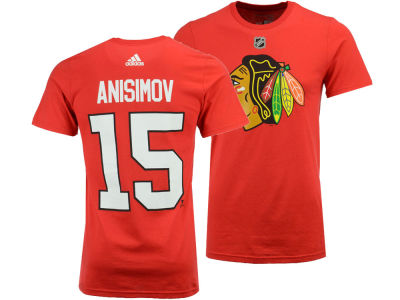 Chicago Blackhawks Artem Anisimov adidas NHL Men's Silver Player T-shirt