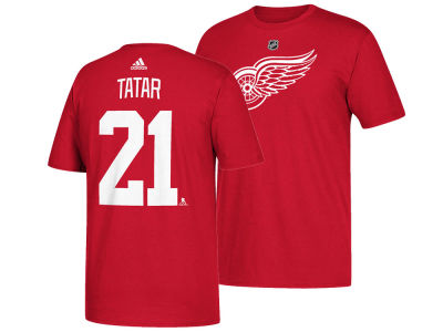 Detroit Red Wings Tomas Tatar adidas NHL Men's Silver Player T-shirt