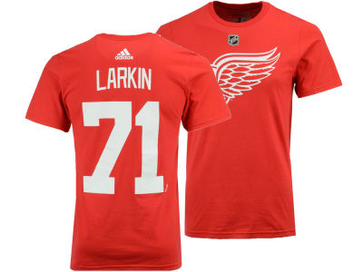 Detroit Red Wings Dylan Larkin adidas NHL Men's Silver Player T-shirt