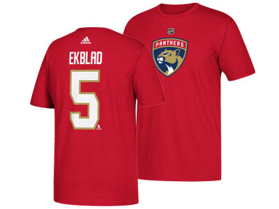 Florida Panthers Aaron Ekblad adidas NHL Men's Silver Player T-shirt
