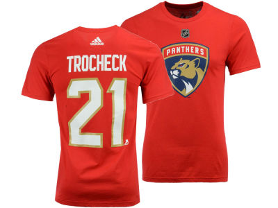 Florida Panthers Vincent Trocheck adidas NHL Men's Silver Player T-shirt