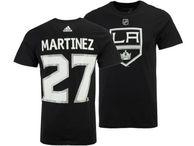Los Angeles Kings Alec Martinez adidas NHL Men's Silver Player T-shirt