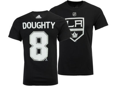 Los Angeles Kings Drew Doughty adidas NHL Men's Silver Player T-shirt