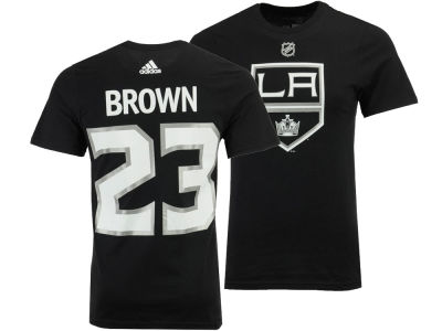 Los Angeles Kings Dustin Brown adidas NHL Men's Silver Player T-shirt