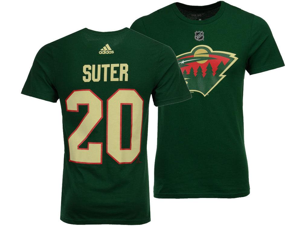 Minnesota Wild Ryan Suter adidas NHL Men s Silver Player T-shirt ... 0f89e2a5d