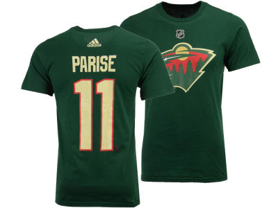 Minnesota Wild Zach Parise adidas NHL Men's Silver Player T-shirt