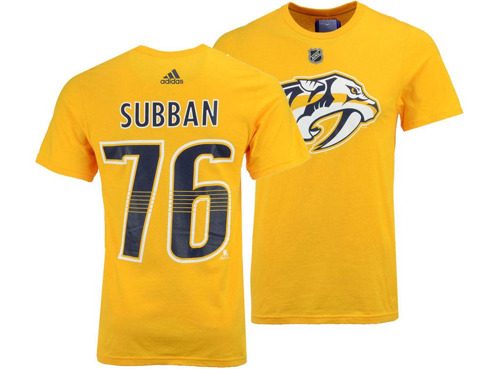 Nashville Predators PK Subban adidas NHL Men s Silver Player T-shirt ... 3590a3623