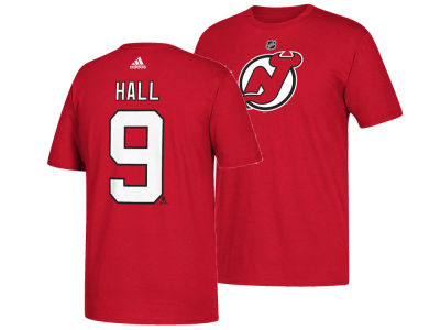 New Jersey Devils Taylor Hall adidas NHL Men's Silver Player T-shirt