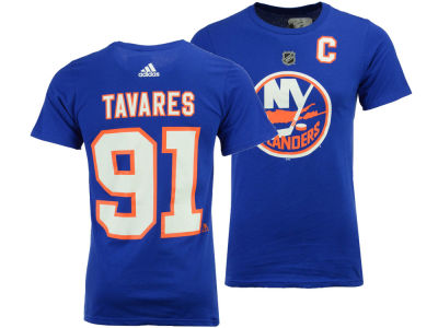 New York Islanders John Tavares adidas NHL Men's Silver Player T-shirt