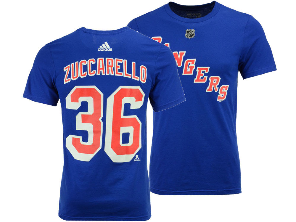 New York Rangers Mats Zuccarello adidas NHL Men s Silver Player T-shirt  555b930b7