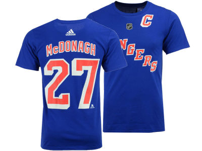 New York Rangers Ryan McDonagh adidas NHL Men's Silver Player T-shirt