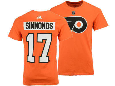 Philadelphia Flyers Wayne Simmonds adidas NHL Men's Silver Player T-shirt