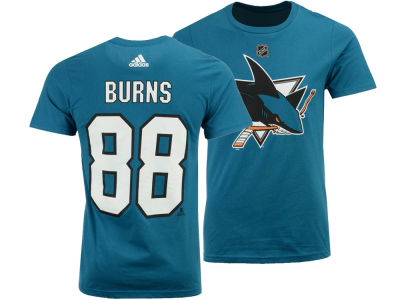 San Jose Sharks Brent Burns adidas NHL Men's Silver Player T-shirt