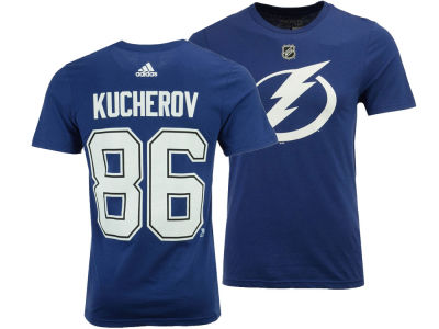 online store 12163 1276f Tampa Bay Lightning Nikita Kucherov adidas NHL Men s Silver Player T-shirt