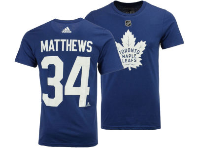 Toronto Maple Leafs Auston Matthews adidas NHL Men's Silver Player T-shirt
