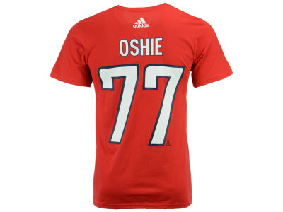 Washington Capitals T. J. Oshie adidas NHL Men's Silver Player T-shirt