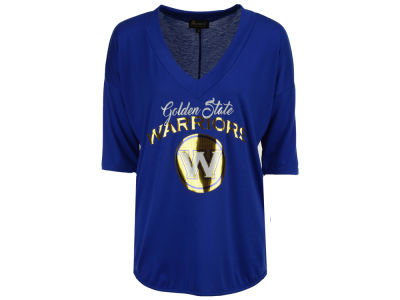 Golden State Warriors Gameday Couture NBA Women's Weekender Deep V T-Shirt
