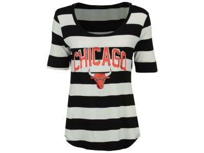 Chicago Bulls Gameday Couture NBA Women's Striped Half Sleeve T-Shirt