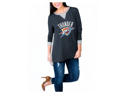 Oklahoma City Thunder NBA Women's Striped Panel Long Sleeve T-Shirt