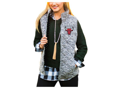 Chicago Bulls NBA Women's City Chic Quilted Vest