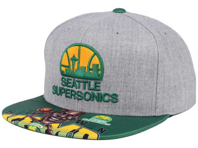 Seattle SuperSonics Mitchell & Ness NBA Caricature Snapback Cap