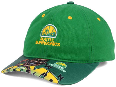 Seattle SuperSonics Mitchell & Ness NBA Caricature Dad Hat