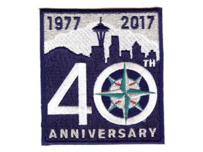 Seattle Mariners MLB Sleeve Patch 40 Years