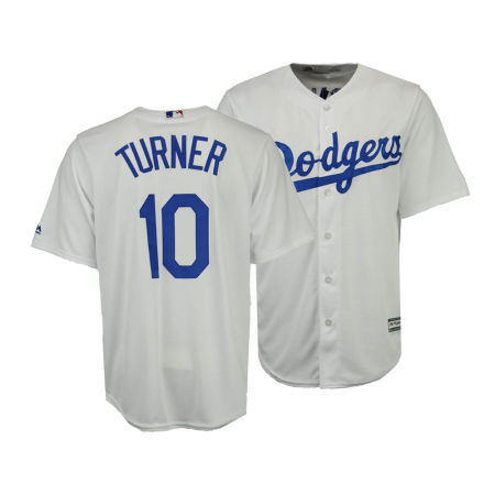 Los Angeles Dodgers Justin Turner Majestic MLB Men's Player Replica Cool Base Jersey