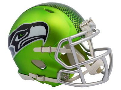 Seattle Seahawks Speed Blaze Alternate Mini Helmet