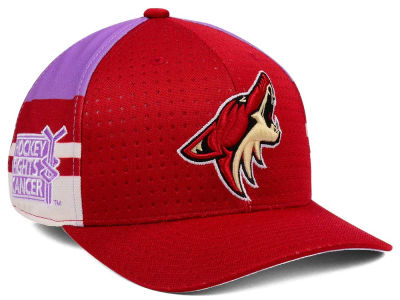 Arizona Coyotes adidas 2017 NHL Hockey Fights Cancer Stretch Cap