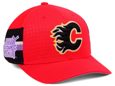 Calgary Flames adidas 2017 NHL Hockey Fights Cancer Stretch Cap