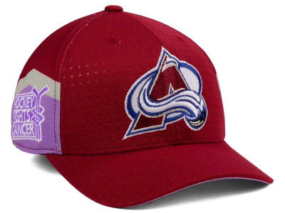 Colorado Avalanche adidas 2017 NHL Hockey Fights Cancer Stretch Cap