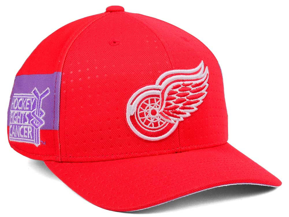Detroit Red Wings adidas 2017 NHL Hockey Fights Cancer Stretch Cap ... 23020045a781