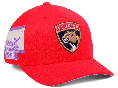 Florida Panthers adidas 2017 NHL Hockey Fights Cancer Stretch Cap