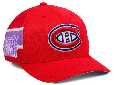 Montreal Canadiens adidas 2017 NHL Hockey Fights Cancer Stretch Cap