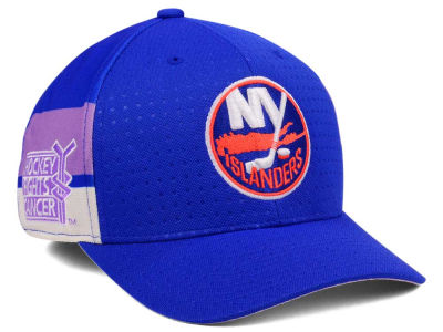 New York Islanders adidas 2017 NHL Hockey Fights Cancer Stretch Cap
