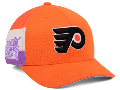 Philadelphia Flyers adidas 2017 NHL Hockey Fights Cancer Stretch Cap