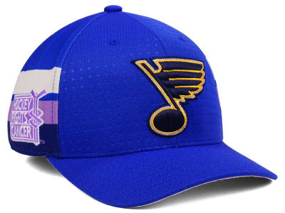 St. Louis Blues adidas 2017 NHL Hockey Fights Cancer Stretch Cap